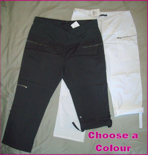 a16852b9b5a21 MATERNITY CARGO PANTS - Plus Sizes 3-WAY LEG LENGTH WITH COMFORT CROSS WAIST