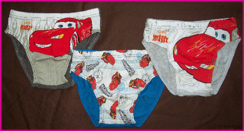 Boys Cars Lightning Mcqueen Undies  Knickers Underwear 6//pack 100/% Cotton